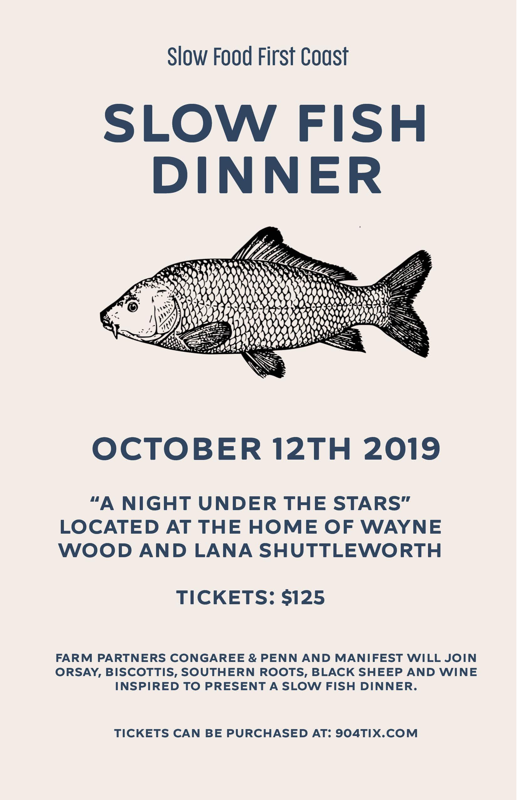 Slow Fish Dinner 2019