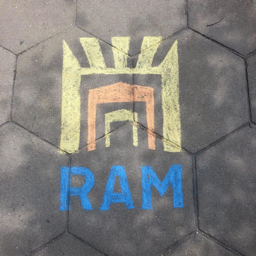 RAM logo chalk