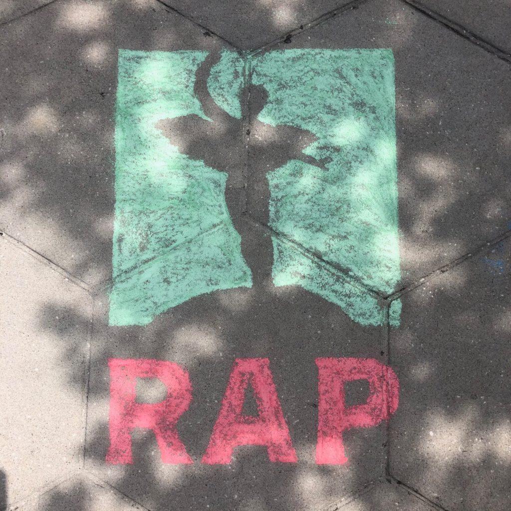 RAP logo chalk