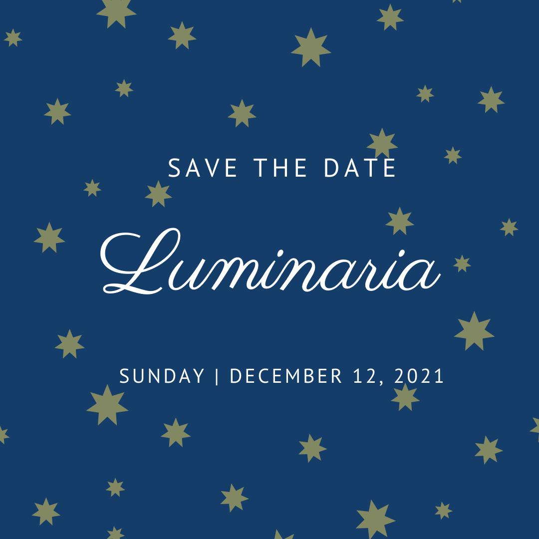 Save the Date Luminaria
